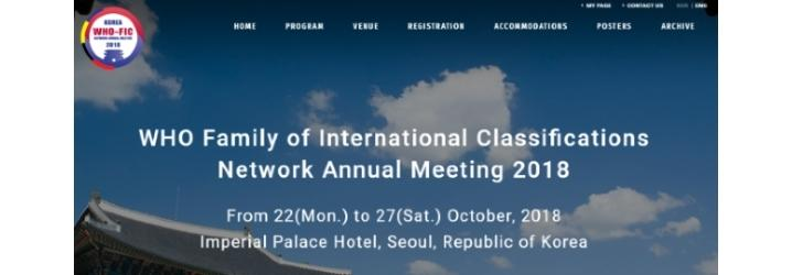 A Seoul il prossimo meeting del WHO-FIC network